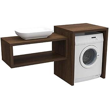 Arredo bagno in 10 colori con mobile con copri lavatrice for Mobili 5 stelle