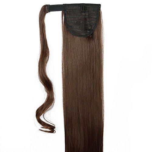 S-noilite® parrucchino parrucca extension coda di cavallo di estensione dei capelli coda di cavallo estensione capelli vari colori marrone medio