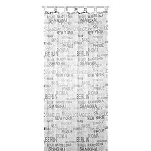 Elbersdrucke Fertigdeko, Weiß-grau, 140 x 255 cm