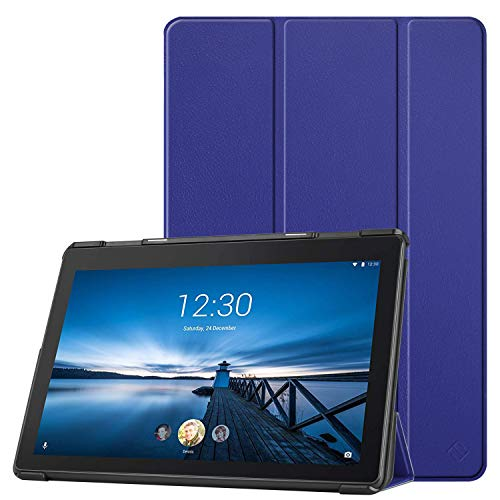 Fintie Hülle Kompatibel für Lenovo Tab E10 - Ultradünne Superleicht Schutzhülle mit Standfunktion für Lenovo Tab E10 10,1 Zoll Tablet 2019, Marineblau