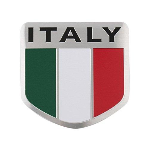 Italien Italy Fahne Flagge Logo Alu 3D Logo Aufkleber Emblem Auto Motorrad Boot Vw Gli-emblem
