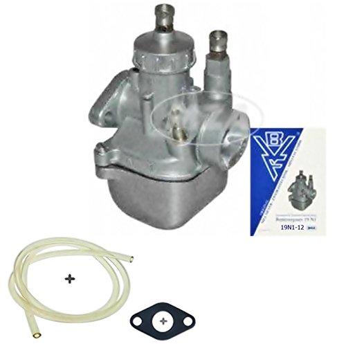 Preisvergleich Produktbild Original 19N1-12 BVF Tuning Vergaser + Flanschdichtung + Benzinschlauch + Serviceheft für Simson