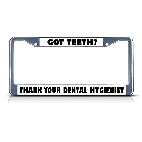 Moon GOT Teth? Metallschild mit Aufschrift Thank Dental Hygienist, 2 Löcher, perfekt für Herren und Damen, Auto-Garadge Mate, Camo