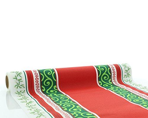 Sovie Home Tischläufer MELISSA/ Linclass® Airlaid Tischläufer 40cm x 4,80 m / Einmal Tischdecken-Rolle stoffähnlich / Weihnachten / Rot