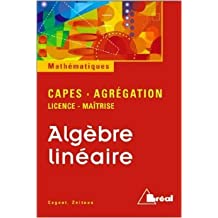 Algèbre linéaire : licence, maîtrise de Michel Cognet ( 2000 )