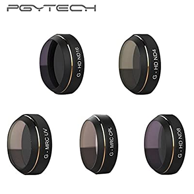 Lens Filters,PGY G-HD ND4 ND8 ND16,G-MRC UV CPL Filters Lens Set, for DJI MAVIC Pro Drone Quadcopter
