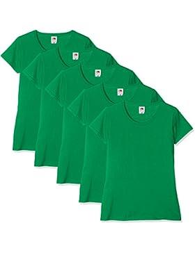 Fruit of the Loom Camiseta para Mujer (Pack de 5)