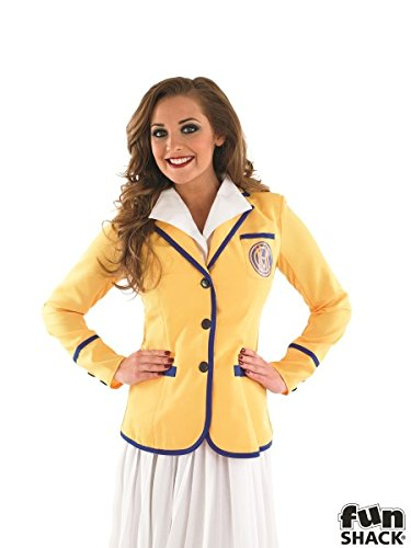 Ladies Maplins Yellow Coat Costume. Size 16 to 18