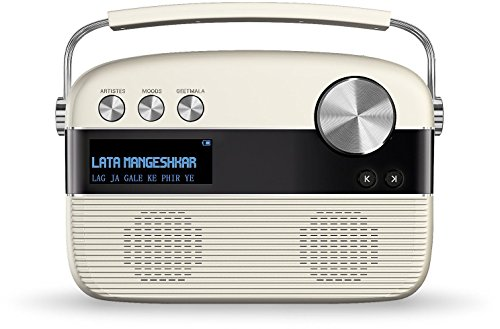 Saregama Carvaan SKU-R20008/R20003 (SC01/SC04) Portable Digital Music Player (Porcelain White)