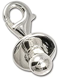 Colgante SilberDream de chupete de plata 925 para pulsera, cadena, pendientes FC3032