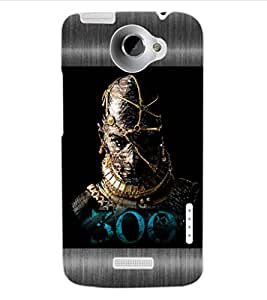 ColourCraft Warrior Design Back Case Cover for HTC ONE X