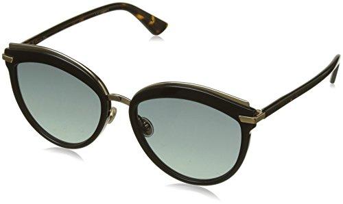 Dior Damen DIGOLDFFSET2 86 WR7 Sonnenbrille, Schwarz (Black Havana/Bk Brw Green Ar), 55