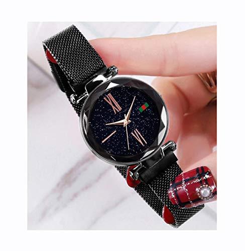 Hannah martin smael orologi da polso impermeabili magnetici elettronici per le donne,blackd5greenlabellabel