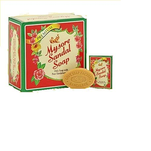 Mysore Sandal Soap, 17 Grams Units (Pack of 30) - Purest Sandalwood Soap - 100% Pure Essential Oils - Grade 1 Soap - TFM 80 - Suitable for ALL Skin Type - Travel Size Soap by Soap