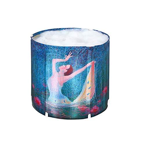 Badewannen für Erwachsene Haushalt Badeeimer Faltbarer Badefass Nylon Tuch Badebassin 70 × 70 cm GW