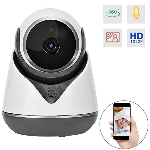 1080P Kamera Professionelle Babyphone Wireless Full HD Netzwerküberwachungskamera Nachtsicht Webcam/Bewegungserkennung/TF Karte unterstützen (Nicht ENTHALTEN) / Cloud Dienst(Black)