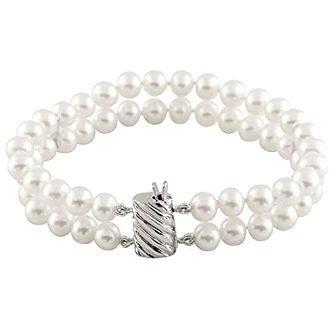 Bella Pearls 2 Row Freshwater Pearl with Clasp and Dividers
