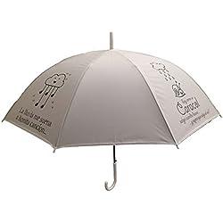 Paraguas frase La lluvia me