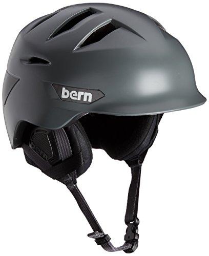Satin 2l (Bern Damen Helm Men'Rollins Zipmold und Winter mit Einsatz, Satin, Grau/Schwarz, 2-L/3X-L)