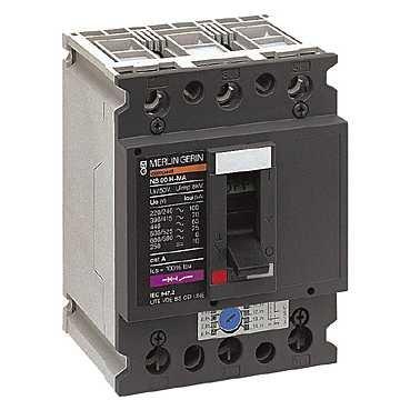 Schneider 28103 AC-Leistungssch. 3 P, Schutz von Motoren, 80A, magn.Ausl. MA/12,5kA - 12,5 A Motor