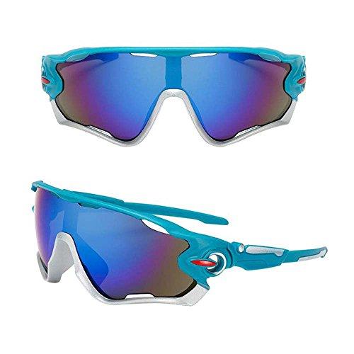 Gafas de Bicicleta/gafas de montar, ASHOP Gafas de sol de ciclismo Gafas de bicicleta Gafas de sol polarizadas (B)