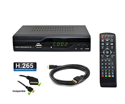 Strom-505 H.265 HEVC terrestrischer Receiver HD - DVB-T2 Kompatibel für neue Kanäle - HDMI Full HD PVR USB