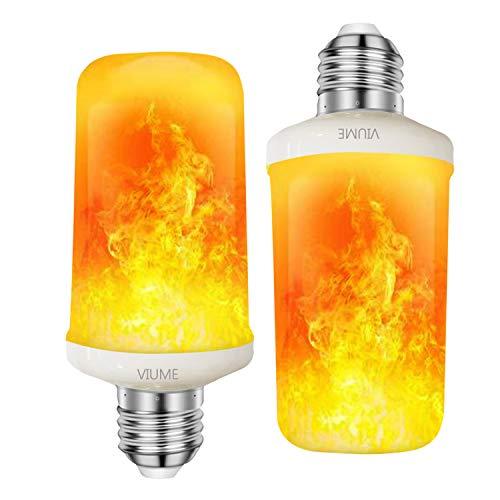 e VIUME (1 Stück) E27 Flackernde Flamme Glühbirne dekorative Atmosphäre Lampen 4 Modi für Weihnachten Halloween Party, Zuhause, Kamin, Hotel, Bar ()