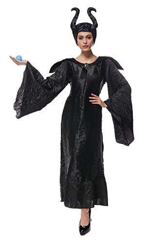 Beunique® Damen Hexe Halloween Karneval Hexe Kleid Party Kostüm Cosplay Uniform (Belle Kostüm Teenager)