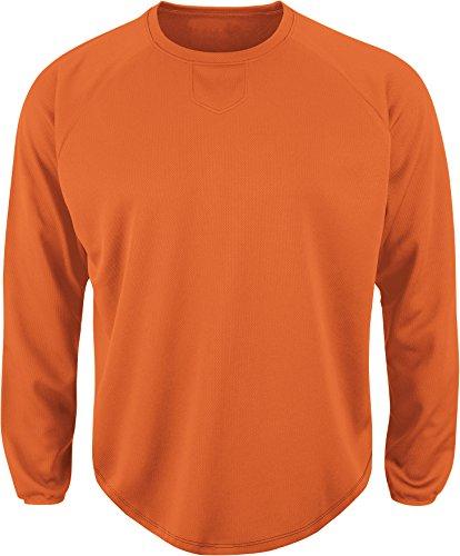 Majestic Herren Premier Home Teller Tech Fleece Pullover, Herren, Orange (Stretch Majestic Pullover)