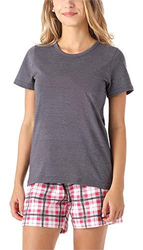 Merry Style Mädchen Jugend Schlafanzug MS10-265(Melange Kariert, 164)