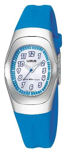 Lorus RG235FX9 - Reloj analógico unisex de cuarzo con correa de goma azul - sumergible a 30 metros