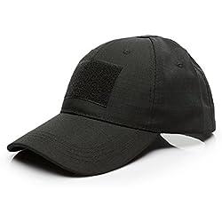 GES Tactical Hat Style militaire hommes armée combattants casquette de baseball (Noir)