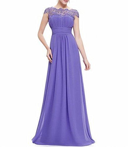 Leader de la beauté femmes robe de soirée dos ouvert froncé Violet - Lavande