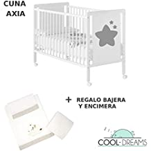 Cuna colecho de bebé Axia (5 alturas de somier) + kit colecho incluído +
