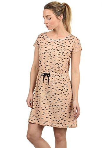 DESIRES Birdy Damen Jerseykleid Shirtkleid Kleid Mit Rundhals Aus 100% Baumwolle Midi, Größe:L, Farbe:Ma. Rose M (4203M) -