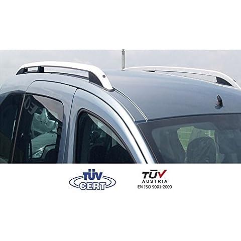 Barras de techo longitudinal para Dacia Sandero 5puertas 2009> Alu + patas plástico negro