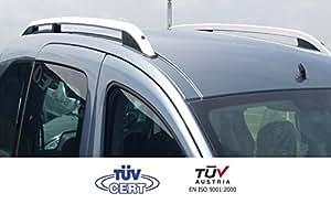 Barres de toit longitudinales pour Dacia Logan MCV 10/2008>09/2013 alu + pieds plastique noir