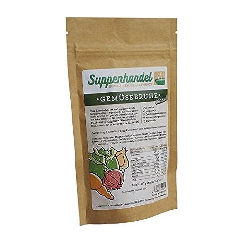 Gemüsebrühe Klassik - 250g (39,60€ / kg), Gemüsesuppe, Würzmittel ohne Geschmacksverstärker, Glutamat oder Hefe