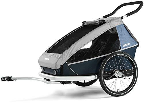 Croozer Kid LE for 2 Fahrradanhänger Stone Grey 2019 Fahrrad-anhänger