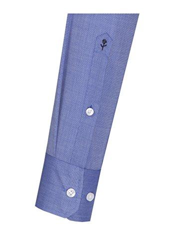 Seidensticker Herren Businesshemd Modern Langarm mit Kent-Kragen Bügelfrei Blau (Mittelblau 15)