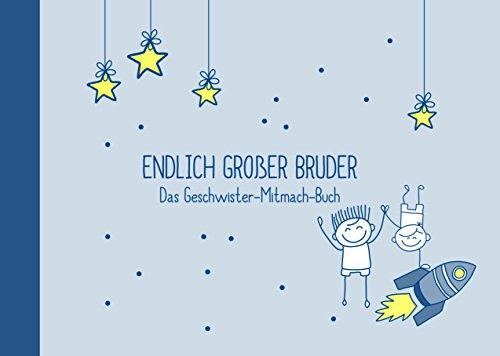 """Geschenk für großen Bruder:""""kleiner Bruder + großer Bruder""""-Buch (Öko, Recycling-Papier, Erinnerungsalbum/Fotoalbum für Geschwister zur Geburt)"""