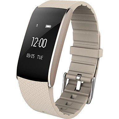 Lemumu HHY neue A86 Smart Armbänder Sauerstoffsättigung im Blut Blutdruck Herzfrequenz Müdigkeit Schlaf Überwachung Wasser Sport Gesundheit Anti verloren Können Sie OTA, Silber