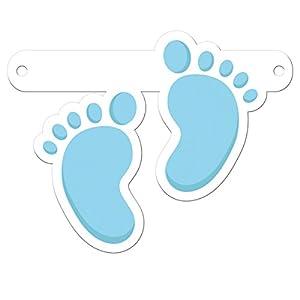 Folat Símbolo para Pancarta / Guirnalda de pies Huellas de bebé Azul