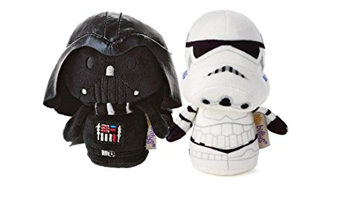 Hallmark Star Wars Itty Bitty Set Of 2 Darth Vader and Storm Trooper Soft Toys 11cm Tall