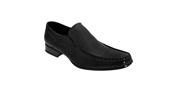 Boy/'s Route21 Square Toe Slip On Smart Shoes Black PU