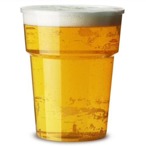 katerglass en plastique Verres à pinte 568 ml | | Lot de 25 gobelets en plastique jetables, gobelets bière en polypropylène