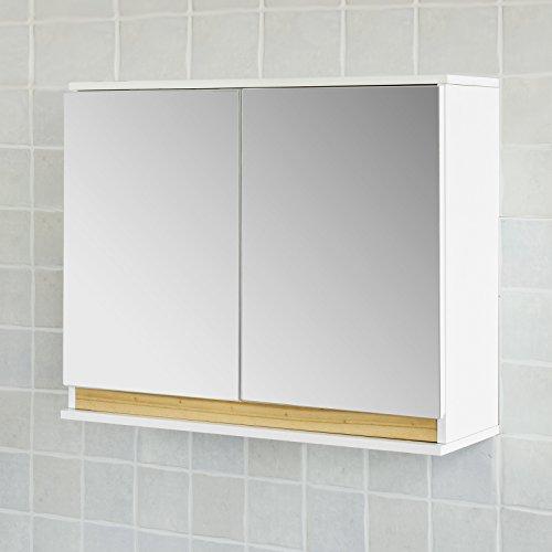 #SoBuy® Spiegelschrank, Badspiegelschrank, Badezimmerschrank, FRG131-WN#
