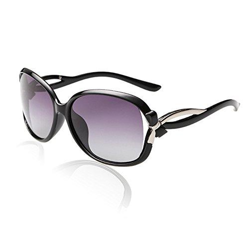Duco Damen Sonnenbrille Polarisiert stilvolle Star Brille 100% UV-Schutz 2229 (Schwarz)