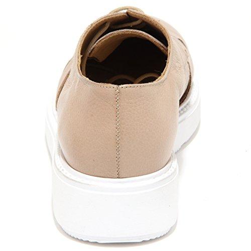 Sax 2587N Scarpa Allacciata Scarpe Donna Shoes Women Beige Beige