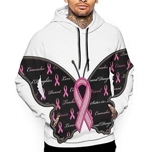Medlin Wings Ribbon Pullover Hoodie Sweatshirt with Front Pocket -